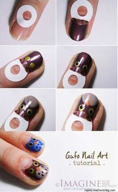 YES = owl nail art