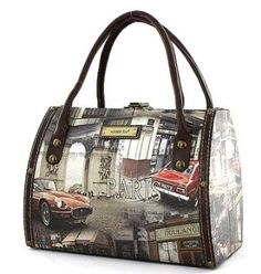 Paris Print Purse Nicole Lee Handbag Body Tote Bag Small Liven Up Your Wardrobe With This