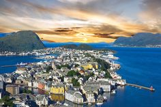 Alesund town, Norwegian fjords, Norway Located in the western coast of Fjord Norway is Alesund town. The beauty of this place...