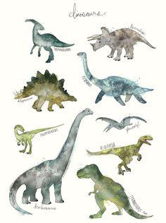 Sunday's Society6 - Amy Hamilton, Dinosaurs #art #watercolor #dinosaurs #society6