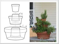 Clever tiered potted plants