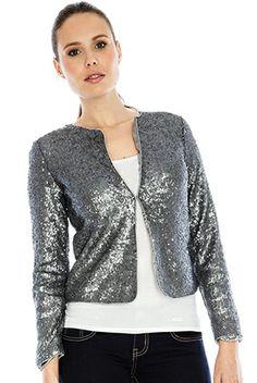 Micro Sequin Jacket #sequin #shine #citygoddess