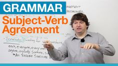 English Grammar is an important tool which we are loosing in our new generation. This grammar video is a great tool to watch if you have trouble with subject verb-agreement. Subject Verb Agreement, Subject And Verb, Grammar And Punctuation, Grammar Lessons, English Lessons, Learn English, Verb Forms, Professional Writing, English Grammar