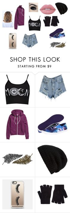 """The Astronauts in The Sky"" by nmercadante on Polyvore featuring Boohoo, H&M, Vans, Paperself, Rick Owens, Casetify, Accessorize and Lime Crime"