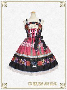 Polonaise Brillante ~Ideas of Maiden~ Corset JSK by Baby, the Stars Shine Bright Lolita Fashion, Dream Dress, Grosgrain, Corset, Summer Dresses, Elegant, Color, Bright, Stars