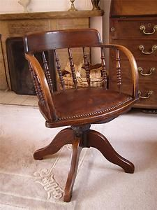 1910 Edwardian Oak And Leather Captain S Swivel Office Desk Chair Love The Patina Style Old Metal Mechanism Would Be Beautiful In Our Travel