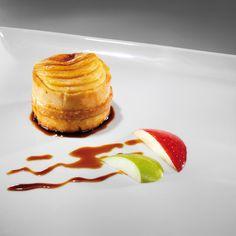 Milhojas de Capón con Foie y Manzana caramelizada