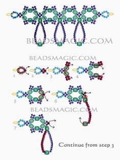 Free pattern for beaded necklace Nova U need: czech faceted crystal beads 6 mm seed