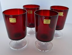 Wow picks! Arcoroc Red Wine glasses at $36.00 Choose your wows. 🐕 #ArcorocWine #wineglasses #4Wineglasses #SetOf4 #RedGlasses #RedArcoroc #barware #RubyRedWineglass #VintageDrinkware #wineglass Drinkware, Barware, Vintage Shops, Vintage Items, Red Wine Glasses, Ruby Red, Home Decor Items, Gift Tags, Tableware