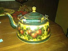 Peter Ompir hand painted tea pot