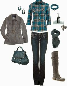 Get Inspired by Fashion: Casual Outfits | Teal and Grey
