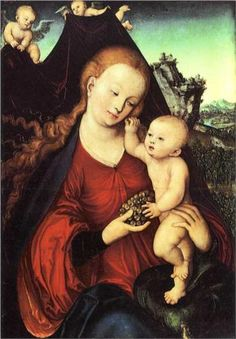 Madonna and Child with a Bunch of Grapes - Lucas Cranach the Elder