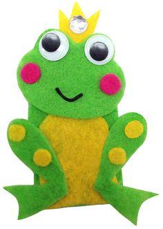 Frog - Felt Finger Puppet Kit from Land Far Away series
