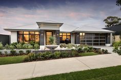 Explore our range of award winning home designs here. Choose your dream home design now with Dale Alcock. Available in Perth or the South-West. Dream Home Design, Modern House Design, Perth, Modern Front Yard, Display Homes, New Home Designs, Facade House, House Front, House Colors