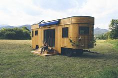 The Wohnwagon is self-sufficient, sustainable and eco-friendly. The home measures 269 sq ft and comes equipped with four solar panels.