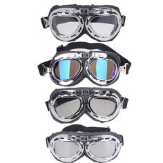 36b2f179198f Bike Bicycle Eyewear Retro Motorcycle Goggles Glasses Motocross Goggle For  Harley for Cycling 4 Colors Bike