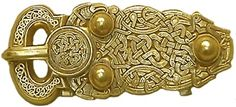 Dragons on Gold Saxon belt buckle  6th century CE. Sutton Hoo