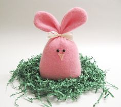 Pink Easter Bunny Rabbit / Pink Stuffed Rabbit Plush Handcrafted from Felted Wool Sweaters no870 by mmwolters on Etsy https://www.etsy.com/listing/271737722/pink-easter-bunny-rabbit-pink-stuffed