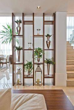 Living Room Partition Design, Living Room Divider, Room Partition Designs, Partition Ideas, Wood Partition, Room Partition Wall, Mid Century Modern Living Room, Living Room Modern, Home Living Room