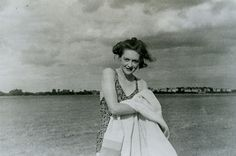 """""""Pam"""" c.1944  MI5 staff member pictured on beach. This ordinary looking snapshot was taken and planted as part of a complex WWII intelligence plan known as Operation Mincemeat.    The intention was that this photograph would make other documents secreted with it seem more authentic. These documents, passed on to German agents after they were found on a body washed up on the coast of Spain (planted by British intelligence) suggested that the Allies were not planning an invasion of southern…"""
