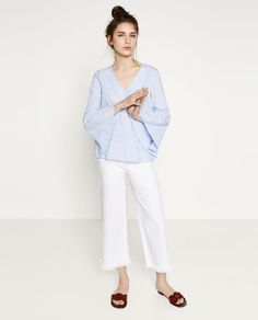 Image 1 of STRIPED BLOUSE from Zara