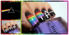 Les Vernis: Dark Side of the Moon Nail Art
