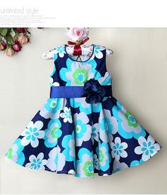 http://www.aliexpress.com/store/group/0-3Y-baby-dress/621900_251275078/2.html   2013 hot sell new 100% cotton blue with flower Birthday Dresses Baby-girls Newborn Dots Applique Flower Sundress