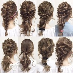 Pin by titanium world - Lisa on hair style Pretty Hairstyles, Girl Hairstyles, Braided Hairstyles, Wedding Hairstyles, Bridesmaid Hair, Prom Hair, Hair Arrange, Hair Setting, Hair Dos