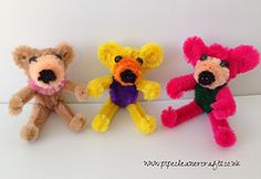 PIPE CLEANER TEDDY BEAR (and/or dog) VIDEO IS AVAILABLE