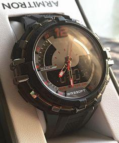 Armitron Sport Men's Quartz Resin Fitness Watch, Color:Black (Model: 20/5134BLK) - in box.