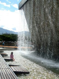 Parque de los Pies Descalzos ('Bare Foot Park'), Medellín, Antioquia, Colombia
