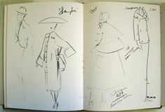 Sketches by Christian Dior