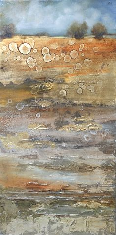 """Pejzaż""- 30x60 olej ,płótno, art gold Painting, Art, Art Background, Painting Art, Kunst, Paintings, Performing Arts, Painted Canvas, Drawings"