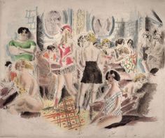 Chas Laborde illustration from Rues et visages de Paris, c1925-1926