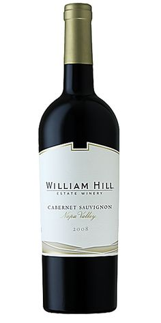 "William Hill Cabernet Sauvignon, Napa Valley: ""Our 2010 Napa Valley Cabernet Sauvignon offers aromas and flavors of bright red fruit, with hints of blueberry and red cherry. Undertones of brown spice and sweet vanilla create a plush mouthfeel of soft tannins that evolve into an extraordinary finish."" – Winemaker's notes"