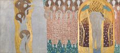 """Gustav Klimt, Beethoven Frieze: """"The Arts"""", """"Paradise Choir"""" and """"The Embracement"""", 1901/02 