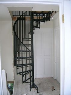 1000 images about attic remodel on pinterest stair for Spiral staircase to attic bedroom