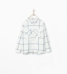 Image 1 of CHECKED SHIRT WITH POCKET from Zara