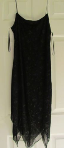 I. N. San Francisco Formal Cocktail Dress,Black w Silver Sparke, NWOT, Size L