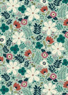 Flower Garden Art Print by annadeegan Pattern Art, Print Patterns, Flora Print, Watercolor Portraits, Watercolour, Cute Backgrounds, Pretty Wallpapers, Canvas Prints, Art Prints