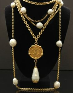 Two vintage Chanel necklaces
