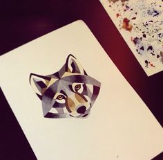 wolf tattoo concept art by Sasha Unisex Deer Tattoo, Wolf Tattoos, Animal Tattoos, Body Art Tattoos, Tatoos, Arte Coral, Watercolor Wolf, Fantasy Tattoos, Japanese Tattoo Art
