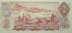 $ 1 billet canadien / Canadian $1 Bill (2/2) Canadian Dollar, Dark Stories, 2 Bill, Vintage World Maps, Comedy, Scene, History, Art, Banknote