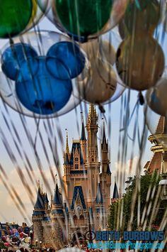 Magic Kingdom (Those balloons last forever! Seriously, ours floated for MONTHS!)