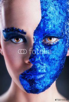 Blue makeup ©Artem Furman