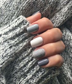 nail art designs for winter \ nail art designs _ nail art designs for spring _ nail art designs for winter _ nail art designs easy _ nail art designs summer _ nail art designs classy _ nail art designs with glitter _ nail art designs with rhinestones Winter Nail Designs, Winter Nail Art, Winter Nails, Spring Nails, Summer Nails, Autumn Nails, Grey Nail Designs, Cute Acrylic Nails, Acrylic Nail Designs