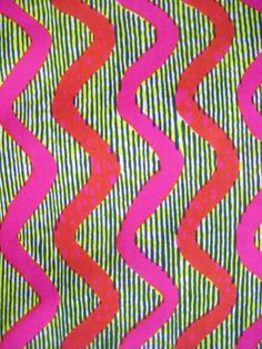 Bold African-style print - curated by Textures Patterns, Fabric Patterns, Color Patterns, Print Patterns, African Fabric, African Prints, Aboriginal Art, Textile Design, Printing On Fabric
