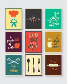 Kitchen decor,kitchen print,kitchen wall art,kitchen print set, kitchen…