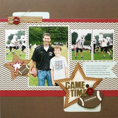Greta Hammond_Little Sport layout 1 for Fancy Pants - Great football layout!