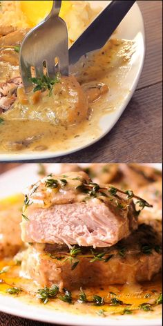Instant Pot Pork Chops are fork tender and flavorful! How to cook perfectly moist and juicy pork chops in your pressure cooker. Moist Pork Chop Recipe, Pork Chops Instant Pot Recipe, Easy Pork Chop Recipes, Chops Recipe, Pork Recipes, Cooking Recipes, Pressure Cooker Pork Chops, Pressure Cooker Recipes, Pressure Cooking
